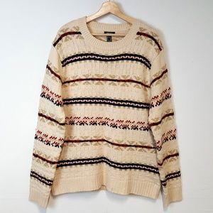 Forever 21 Men Knit Fair Isle Winter Sweater XL